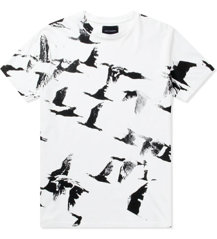 Tourne de Transmission White Migration All Over Print T-Shirt | HYPEBEAST Store