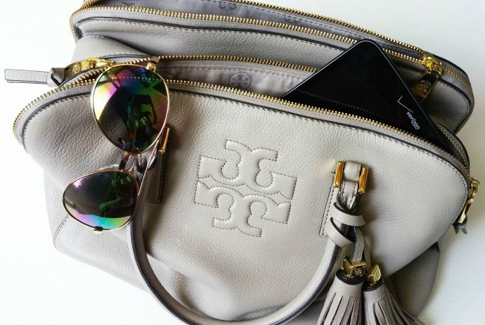 Tory Burch Thea Triple Zip with LG G Pad, http://chicinacademia.com