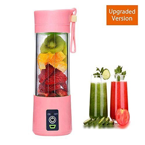 Portable Blender USB Juicer Cup - SUMGOTT Juicer Machine with USB Charger Fruit Mixing Machine Personal Size Rechargeable Juice Blender and Mixer