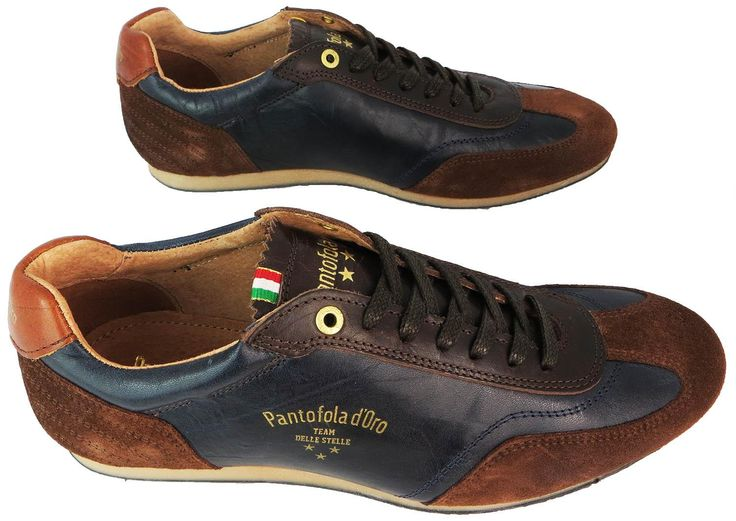 Pantofola D'oro Trapani Low Men's Dress Dark Navy Lace Up Leather Trainers New | eBay