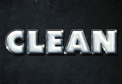 Use layer styles, filters, textures, brushes, and adjustment layers to create a shiny clean plastic text effect. | Difficulty: Beginner; Length: Medium; Tags: Text Effects, Layer Styles, Adobe Photoshop, Gloss, 3D