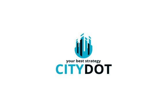 City Dot Logo Template by Shaoleen on @creativemarket