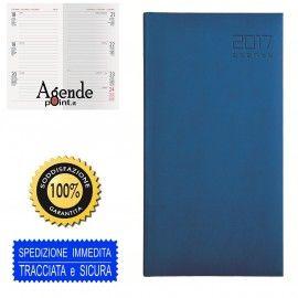Agenda settimanale 7x15 2017 blu chiaro copertina Soft Touch