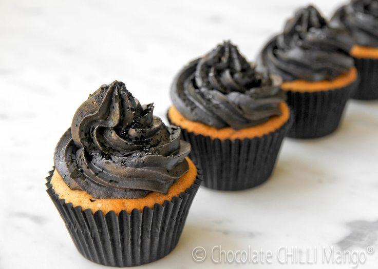 Black liquorice cupcakes - Chocolate chilli mango's tribute to Audrey Hepburn