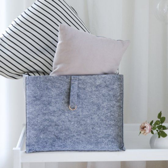 Make This Trendy Storage Box With Felt And Copper Details. In Swedish, With  Step By Step Pictures. | Baskets | Pinterest | Storage Boxes And Felting
