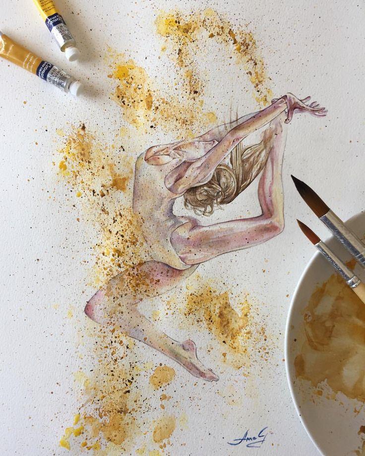 """Mi piace"": 24, commenti: 1 - Anna G. (@anna_g_fashion) su Instagram: ""~ Powder Dancer ~ Watercolour ________________________________________________________Ballet…"""