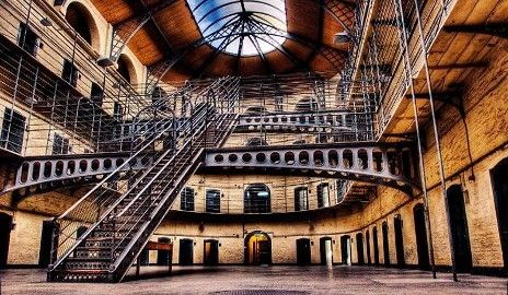 Kilmainham Gaol, Dublin, Ireland. Built in 1796 it is now a museum and open to the public.