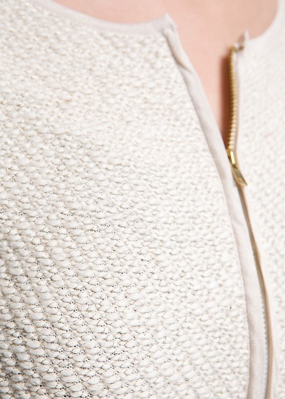 MANGO - Metallic knitted jacket