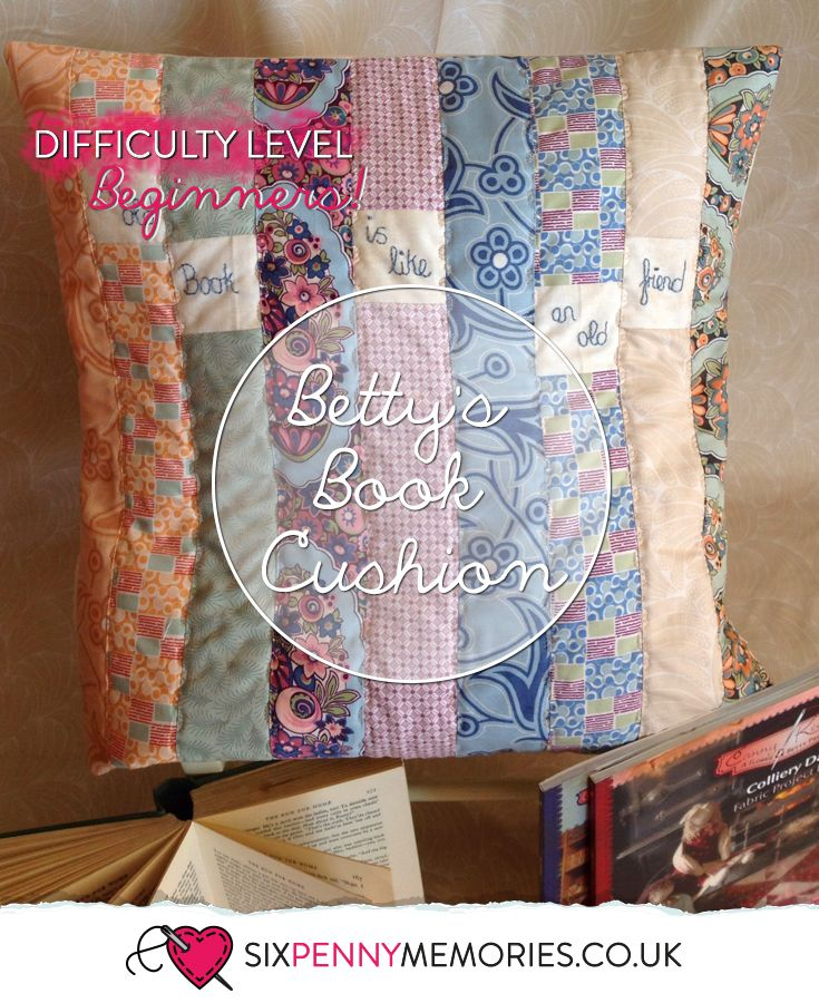 Betty's Book Cushion, a great beginners project