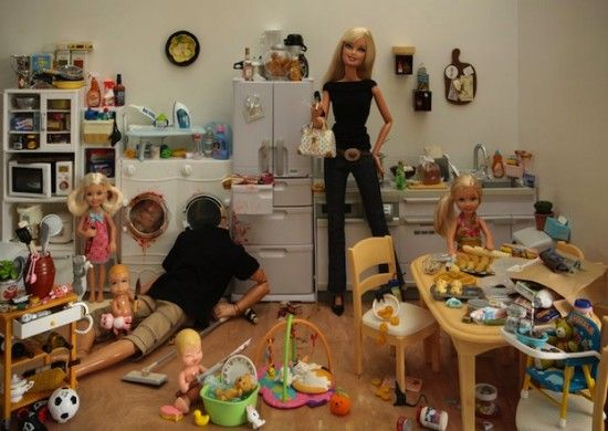 "I know what you're thinking.. But no, I'm not crazy lol.  Quite weird but so creative. ""Bad Barbie"" by Mariel Clayton."