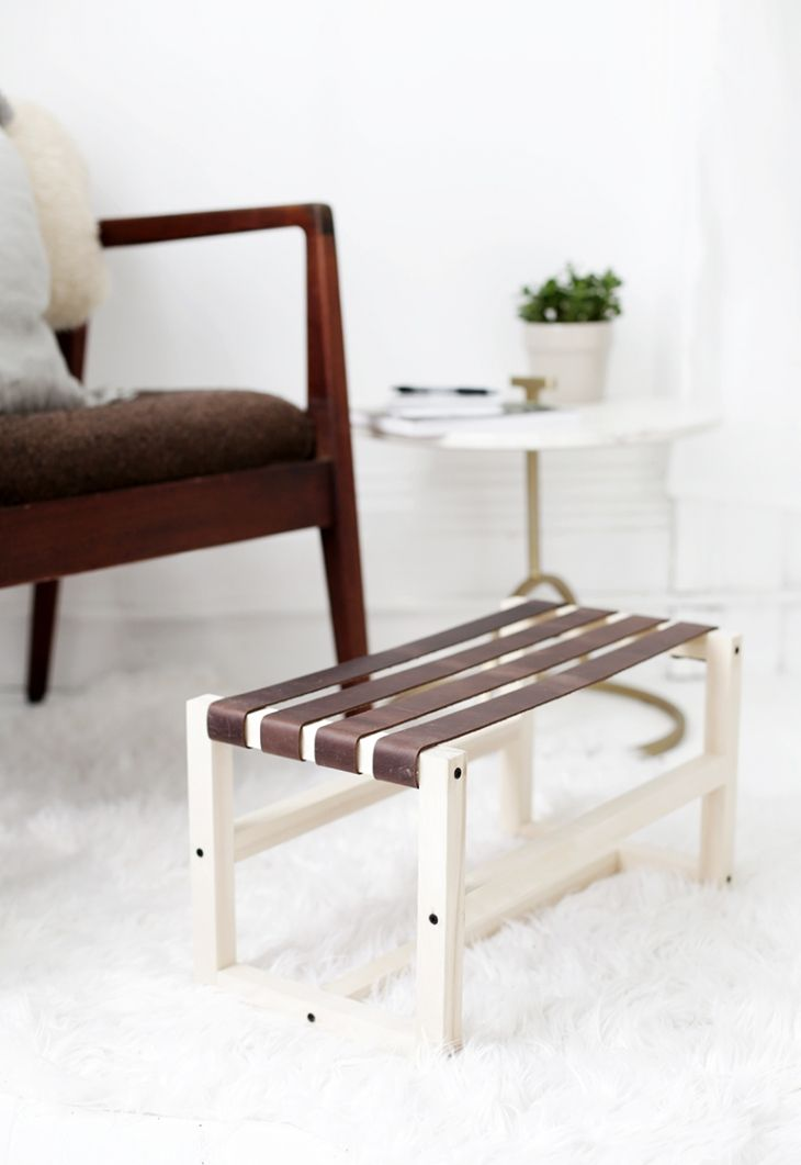 HOME | DIY LEATHER FOOTSTOOL