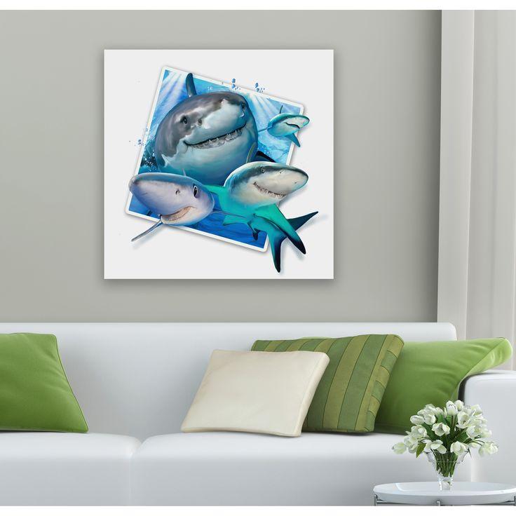 Howard Robinson 'Happy Sharks' Metal Art
