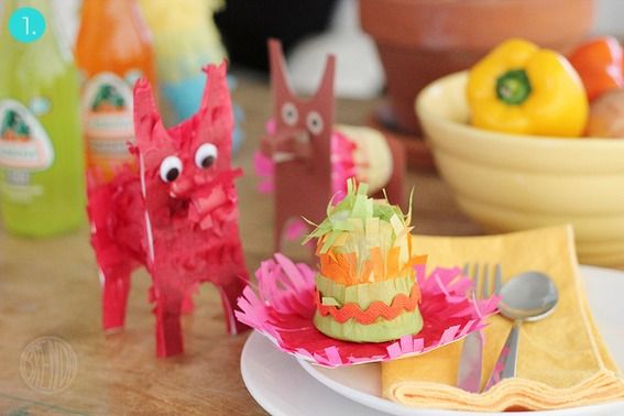 Mini #DIY piñata roundup! // tiny sombrero + burro piñatas