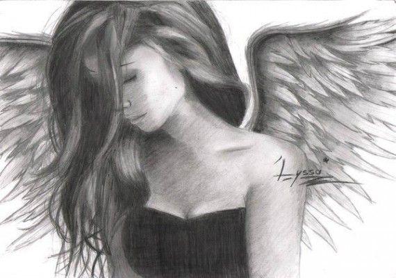 Les 7 meilleures images du tableau dessins sur pinterest - Dessin d ange ...