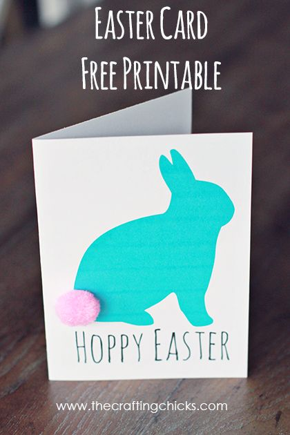 Easter Card *Free Printable - The Crafting Chicks