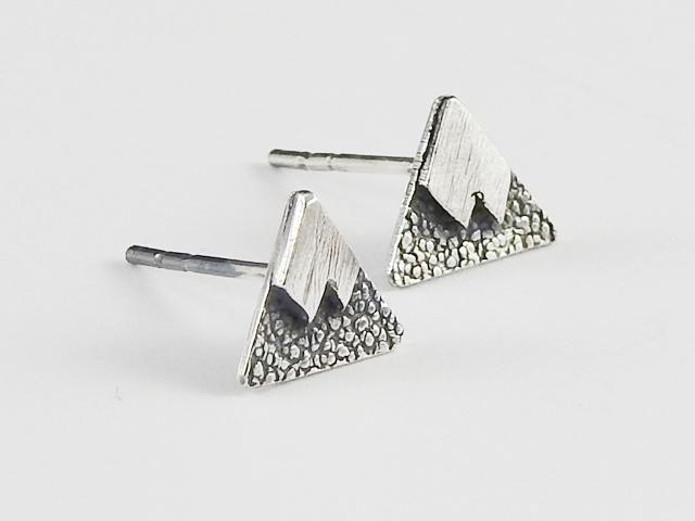 Everyday earrings, stud earrings, Mountain earrings, Snøfjell studs