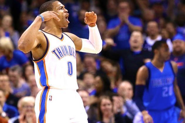 Russell Westbrook logra triple doble en victoria de Thunders ante Heats