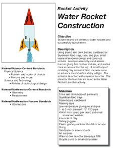 First page of the Water Rocket Construction Activity