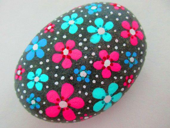 Painted rock FLOWERS