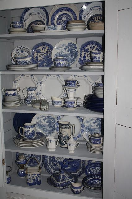 I Have A Big Story To Tell-- Classic blue and white dishes. Blue willow.Other.
