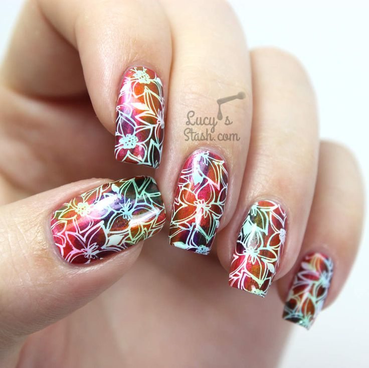 Hawaiian Floral Design & Bundle Monster Polynesia Stamping Plates Review (via Bloglovin.com )