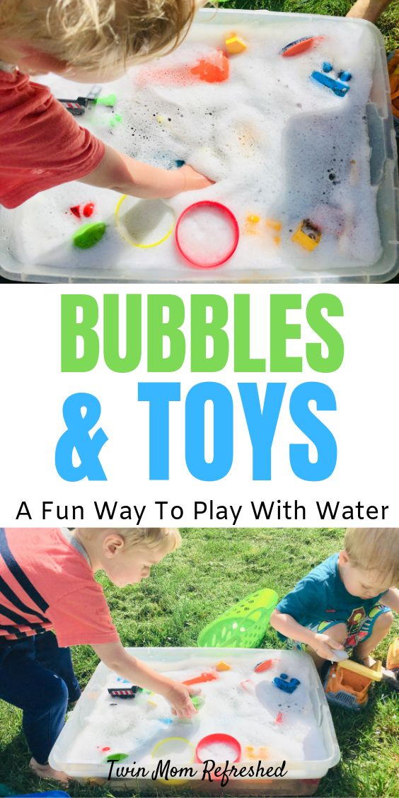 Bubbles and Toys – Easy and Fun Sensory Bin Activity for Toddlers and Preschoolers