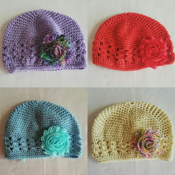 New crochet baby beanies available now