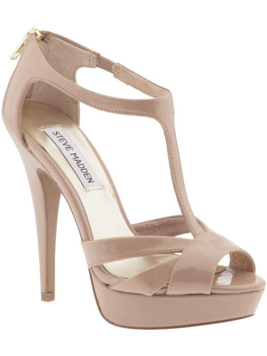 The nudest of nude heels to make your legs look miles long. The platform heel = comfort! Steve Madden