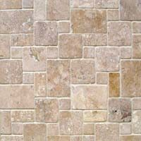 It's so easy to create multi-colored stones with our unique Asher Stone Stencil and joint compound or any other textured medium such as Eco Devita's Sand Plasters, concrete or stucco products:  Here's