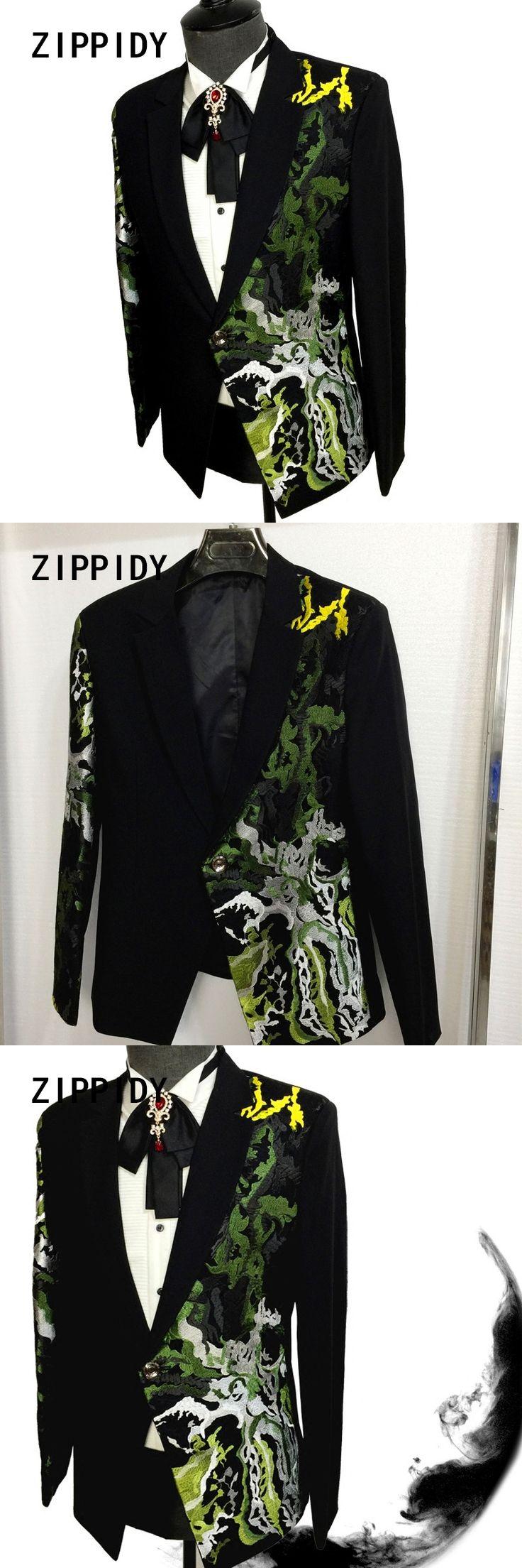New Fashion Printed Design Trendy Slim Men's Suit Jacket Nightclub Celebrate Male Singer Prom Blazer Costumes Stage Show Clothes