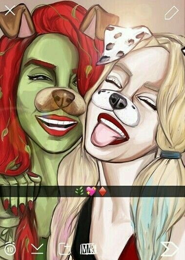 Poison Ivy and Harley Quinn!