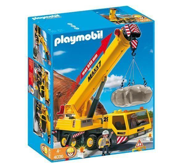 Grue mobile géante PLAYMOBIL 4036 prix promo Carrefour.fr 53,56 € TTC