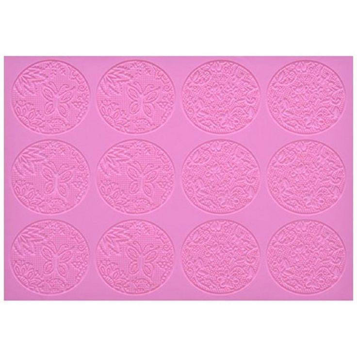 Claire Bowman ZAHARA cake / edible lace silicone tool mat