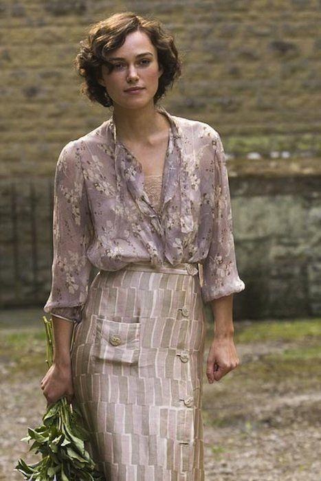 Keira Knightley, Cecilia Tallis, - Atonement (2007) #ianmcewan #joewright (Costume Design by Jacqueline Durran)