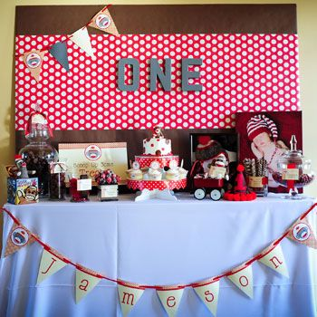 When it comes to a first birthday party, it doesn't get more sentimental – or grand! – than this sock monkey theme party planned by Jennifer Laws for her youngest son, Jameson! Jennifer says she had picked the sock monkey birthday theme before Jameson was ...