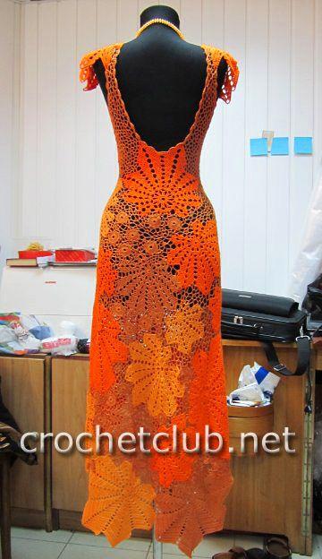 Gorgeous Freeform Dress with pattern diagrams