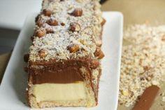 bûche de noël chocolat vanille noisettes et croustillant (vidéo Hervé Cuisine)