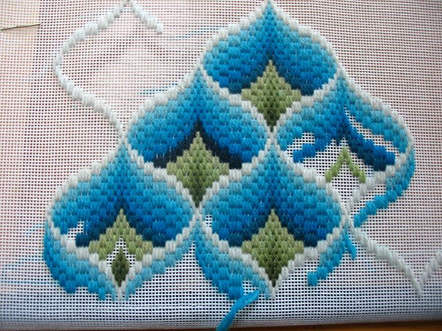 bargello ribbons by elsy965, via Flickr