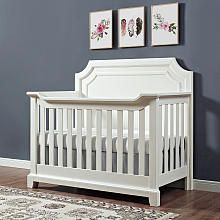 Bertini Lafayette 4-in-1 Convertible Crib - French White Lace