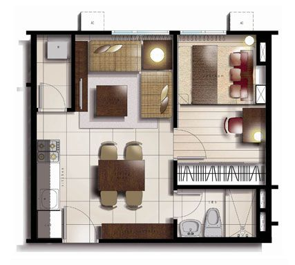25sqm Floor Plan For Studio Murphy Bed Ideas Pinterest