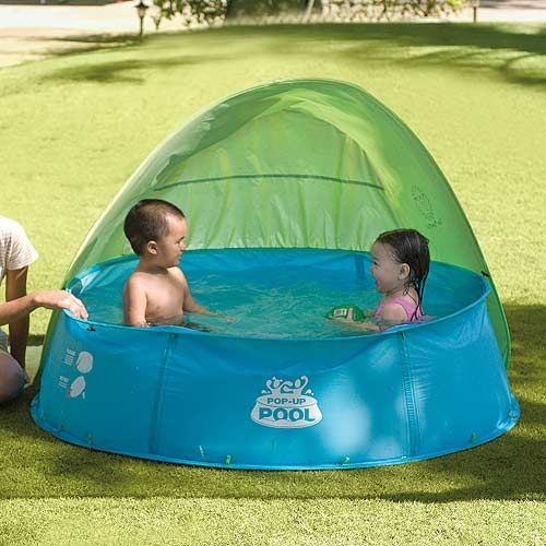 Pop-Up pool with canopy and converts to ball pit or sandbox. Plastic Swimming  PoolKids ...