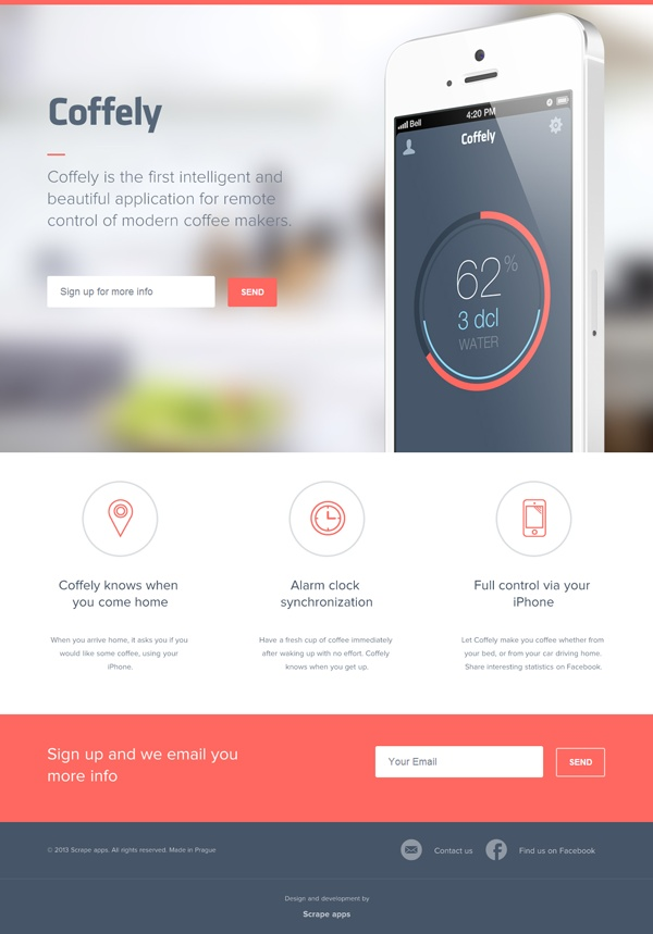 Coffely is the first intelligent and beautiful application for remote control of modern coffee makers.