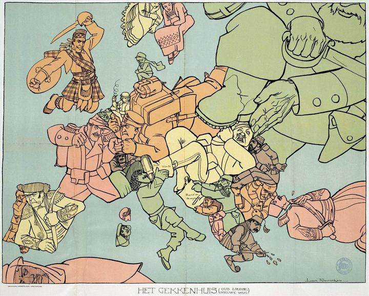Satirical maps of the Olde Europe
