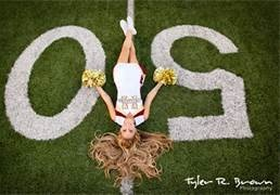 Cheerleader Senior Portraits  But I would really prefer that my hair isn't like that...haha.