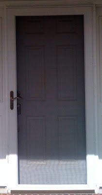 Review of storm door isntallation : Pella-Full-View-Storm-Door-Installed