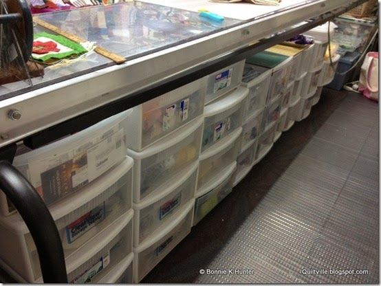 storage+under+longarm | store my drawers under the table side of my long arm quilting ...