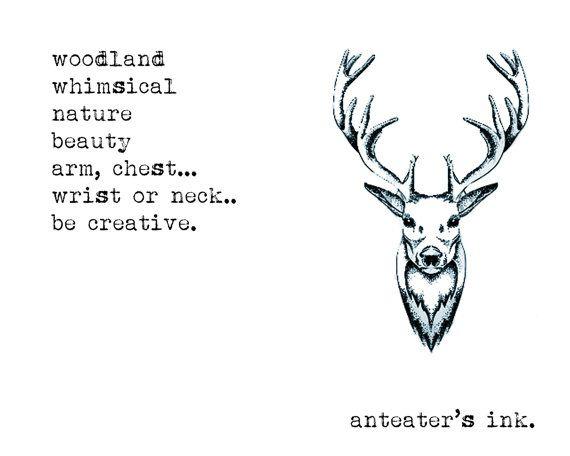 Les 25 meilleures id es de la cat gorie tatouage bras animal sur pinterest tatouage for t sur - Tatouage cerf signification ...