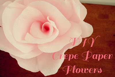 Buggie and Jellybean: DIY Crepe Paper Flowers