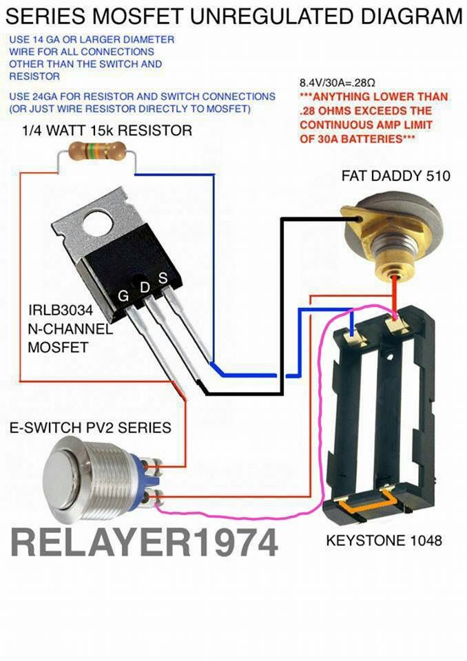 series mosfet unregulated vapers
