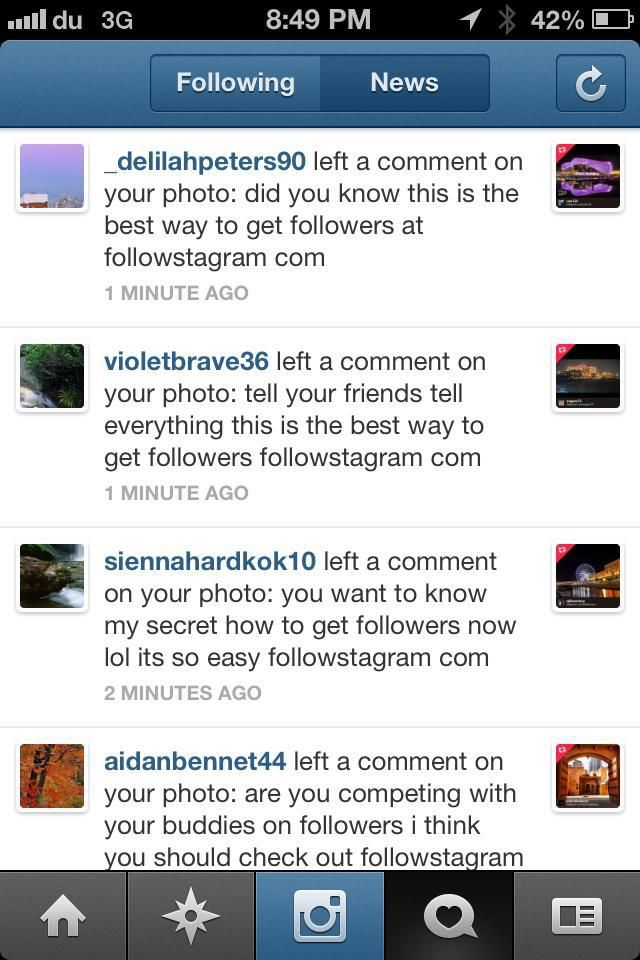 """How to avoid #spam on @instagram? Most of the #Instagramers simply use the """"#reporting"""" #button in their #comments feed. But it seems the Spam Bots are still alive and they daily create tons of new """"fake accounts"""" generating tons of fake comments. At the moment, Instagram Community Team is probably submerged by million of """"report abuse"""" notifications but that´s all we can do."""